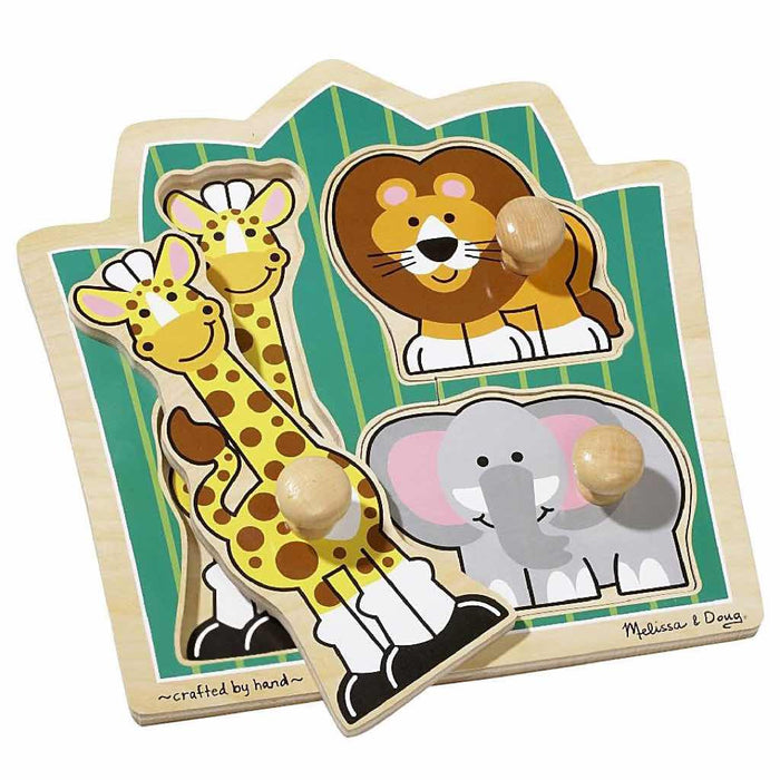 Melissa and Doug - Jumbo Knob Puzzle 3-pieces Jungle Friends