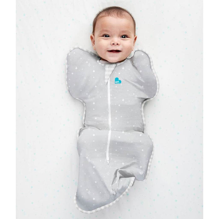 Love To Dream - 0.2 tog Swaddle UP Cotton LITE Grey