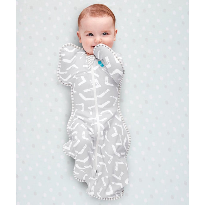 Love To Dream - 0.2 tog Swaddle UP Bamboo LITE Grey