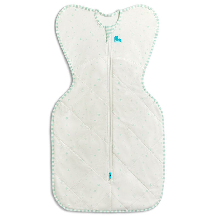 Love To Dream - 2.5 tog Swaddle UP Warm Organic White/Mint