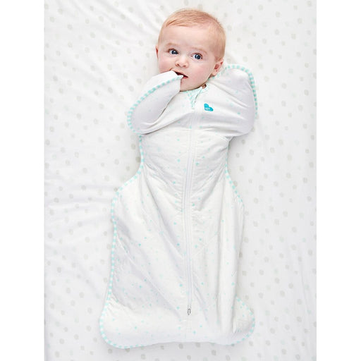 Love To Dream - 2.5 tog Swaddle UP Warm Organic White Mint