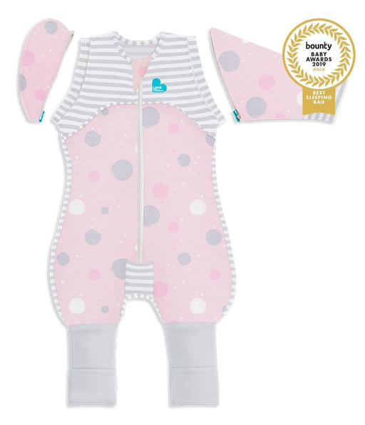 Love To Dream 0.2 tog Lite Swaddle Up Transition Suit Pink