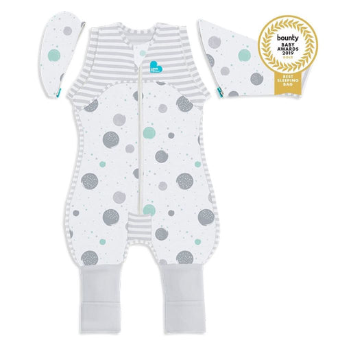 Love To Dream 0.2 tog Lite Swaddle Up Transition Suit White