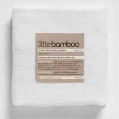 Little Bamboo Muslin Baby Washers 6 pack