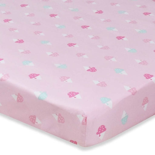 Living Textiles Lolli Living Cot Sheet Ice Cream