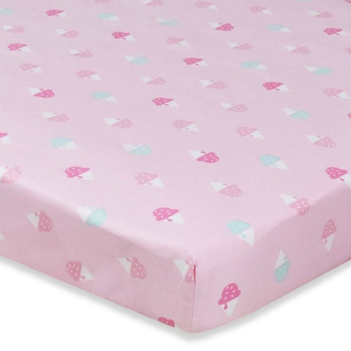 Living Textiles - Lolli Living Cot Sheet Ice Cream