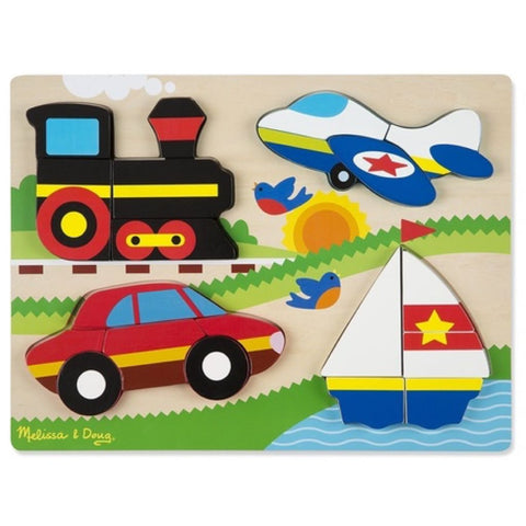 Melissa and Doug | Chunky Large Jigsaw Puzzle Vehicles