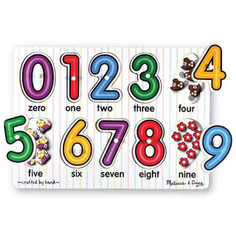 Melissa and Doug | Peg Puzzle Numbers