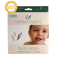 Nature's Child Organic Face Wipes Deluxe 4 pack