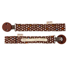 Hevea - Organic Cotton Pacifier and Teether Holder Brown