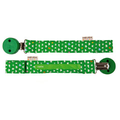 Hevea - Organic Cotton Pacifier and Teether Holder Green