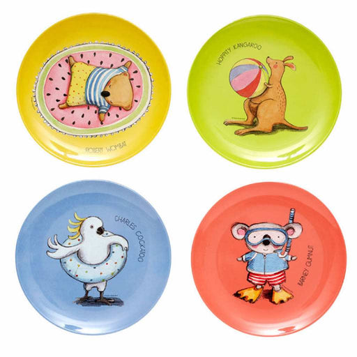 Ashdene Plate Set of 4 Summer with Barney