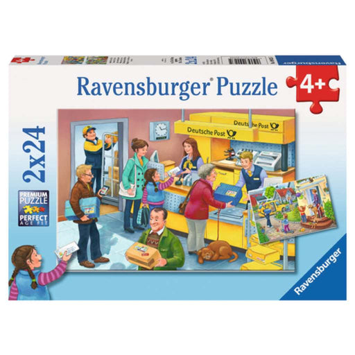 Ravensburger - Puzzle 2x24-pieces The Busy Post Office