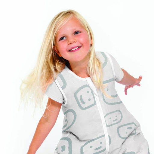 Baby Studio - 2.5 tog Cotton Reversible Sleeping Bag Faces/Grey