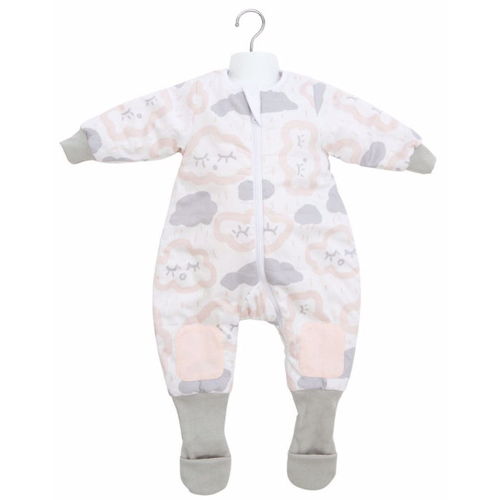 Baby Studio - 3.0 tog Warmies Sleep Suit with Arms Clouds Pink