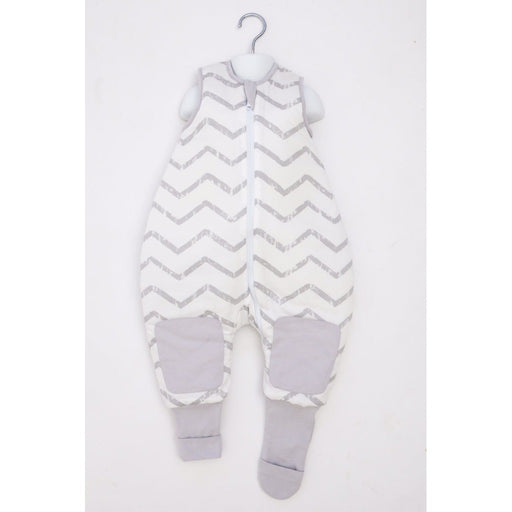 Baby Studio - 2.5 tog Cotton Reversible Warmies Zigzag Grey