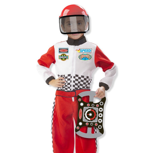 Melissa and Doug | Race Car Driver (F1) Role Play Costume Set