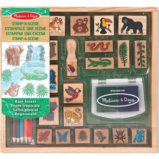 Melissa and Doug - Stamp a Scene Stamp Set Rain Forest