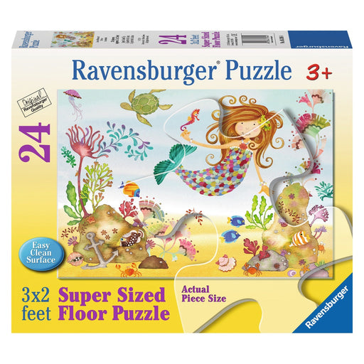 Ravensburger - Super Sized Floor Puzzle 24-pieces Junior Mermaid
