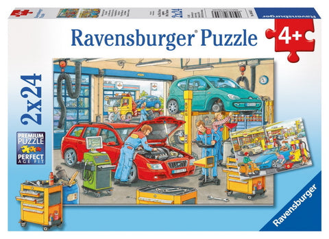 Ravensburger - Puzzle 2x24-pieces Repair Shop & Gas Station
