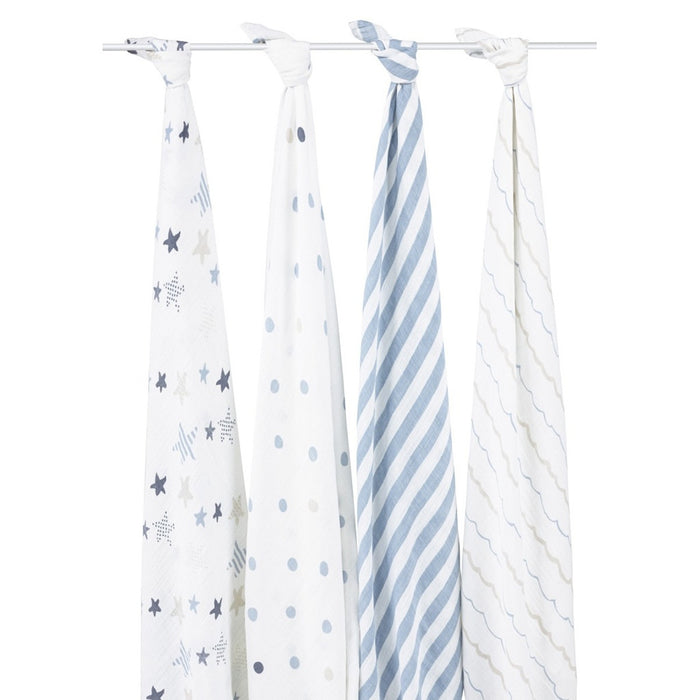 Aden and Anais | Classic Swaddles 4-pack Rock Star