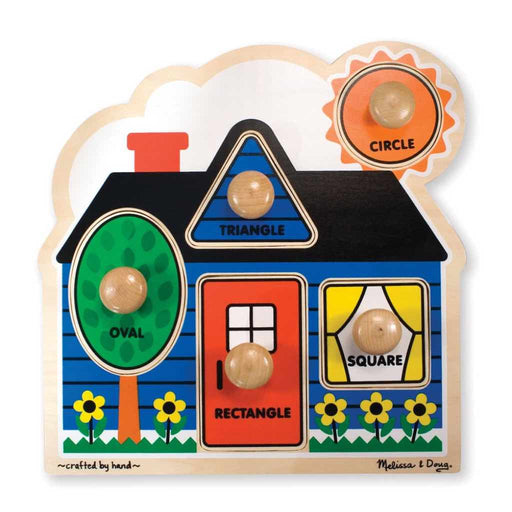 Melissa and Doug - Jumbo Knob Puzzle 5-pieces First Shapes