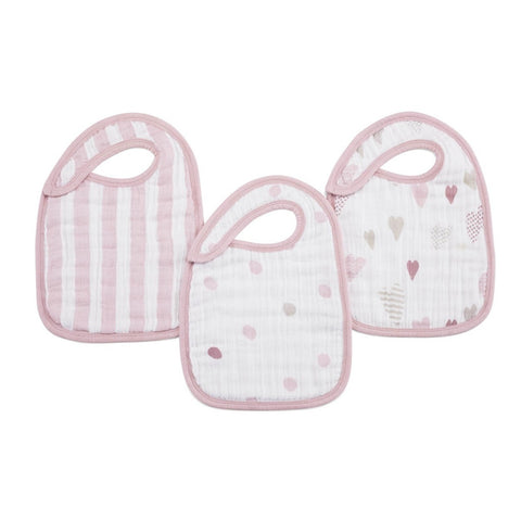 Aden and Anais | Classic Snap Bibs 3-pack Heartbreaker