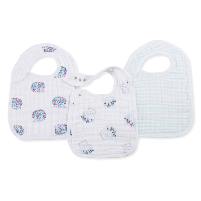 Aden and Anais | Classic Snap Bibs 3-pack Thistle
