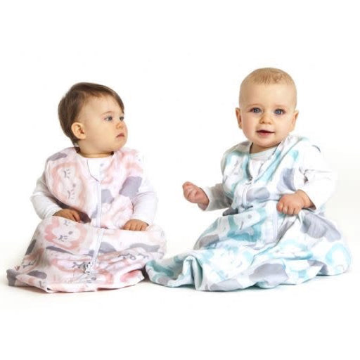 Baby Studio - 1.0 tog Cotton Reversible Sleeping Bag Clouds Peppermint
