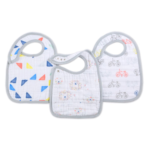 Aden and Anais | Classic Snap Bibs 3-pack Leader of the Pack
