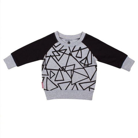 Sookibaby - Sweat Top Boys Abstract Black