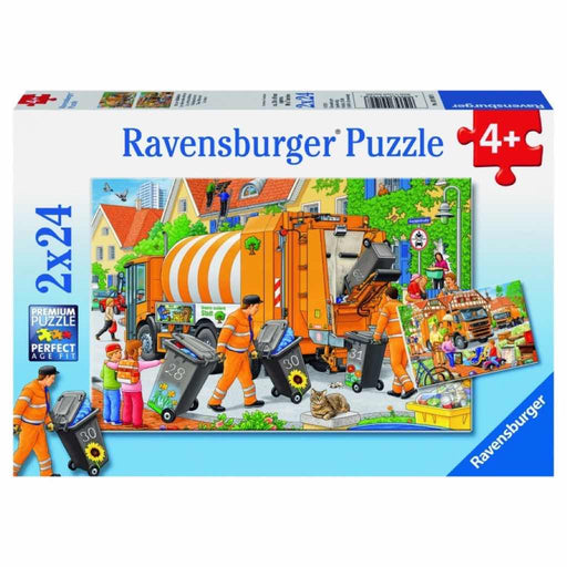 Ravensburger - Puzzle 2x24-pieces Trash Removal