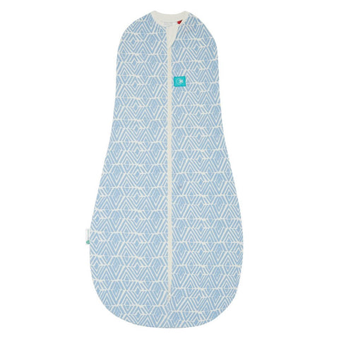 ergoPouch - 1.0 tog Swaddle & Sleep Bag ergoCocoon Autumn/Spring Tribal Blue