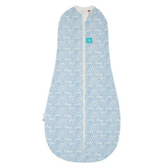 ergoPouch - 0.2 tog Swaddle & Sleep Bag ergoCocoon Summer Tribal Blue