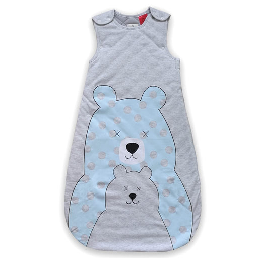 Plum - 2.5 tog Sleeping Bag Funky Bear w Room Thermometer
