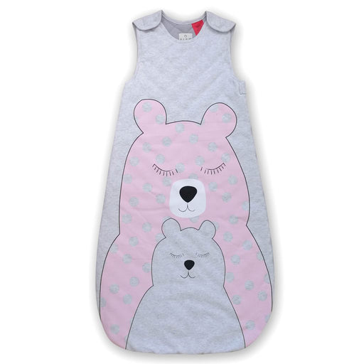 Plum - 2.5 tog Sleeping Bag with Room Thermometer Pink Bear