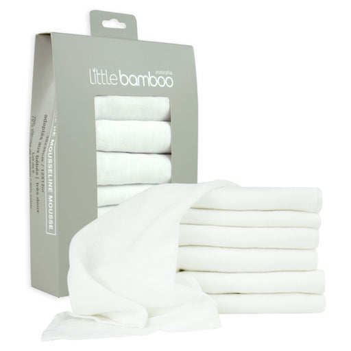 Little Bamboo - Muslin Baby Washers 6 pack Natural
