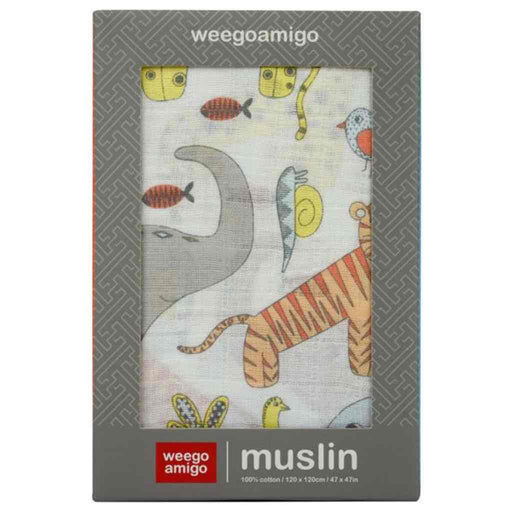 Weegoamigo - Baby Muslin Single Pack Wildlife