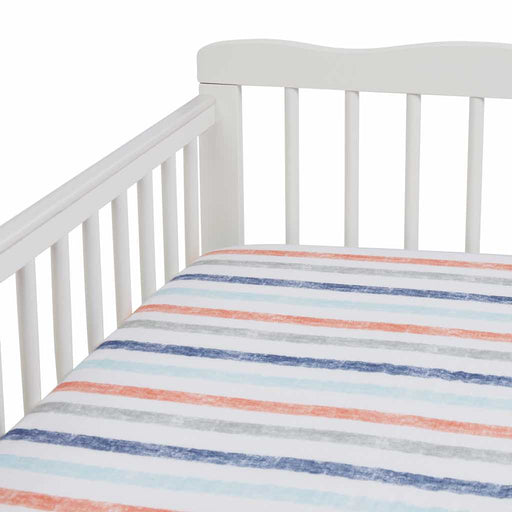 Aden by Aden and Anais - Muslin Cot Sheet Hit the Road Stripes