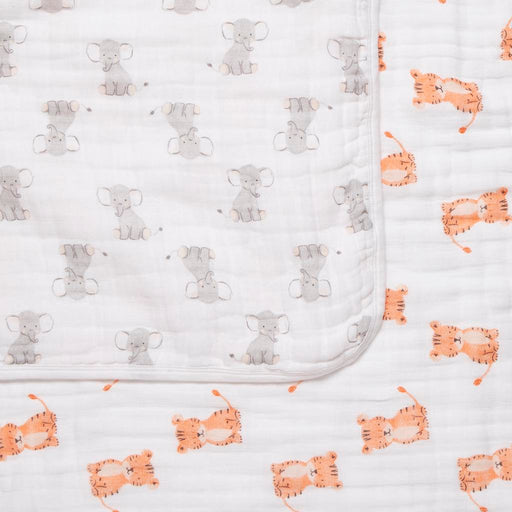 Aden by Aden and Anais - Dream Blanket Safari Babes Elephant and Tiger