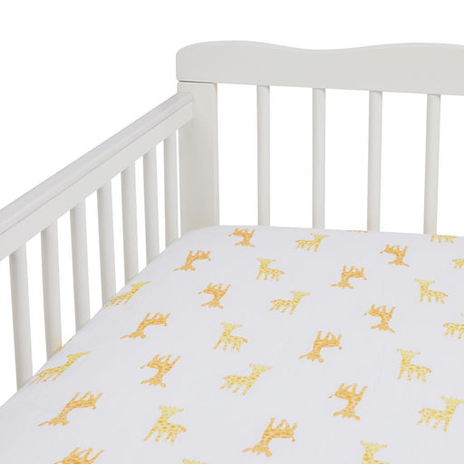 Aden by Aden and Anais - Muslin Cot Sheet Safari Babes Giraffe