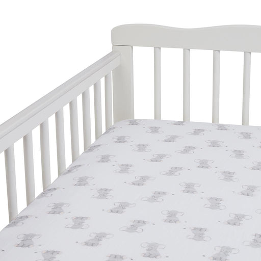 Aden by Aden and Anais - Muslin Cot Sheet Safari Babes Elephant