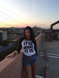 It Is What It Is - Baseball Tee (White & Grey)