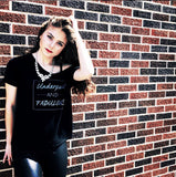 Underpaid & Fabulous - Slouchy Tee (Black)