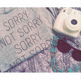 Sorry, Not Sorry - Racerback (Heather Grey)