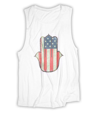 USA Hamsa - Scoop Muscle (White)