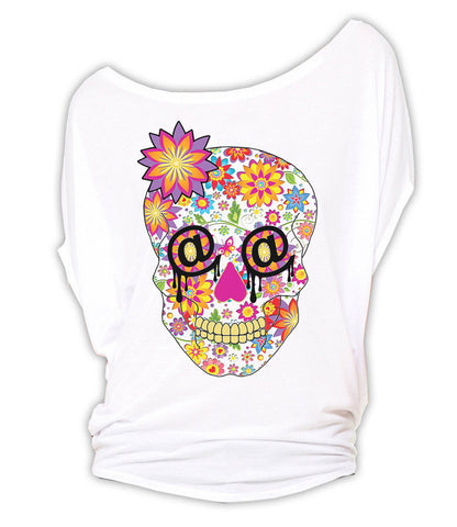 Sugar Skull - Circle Top (White)