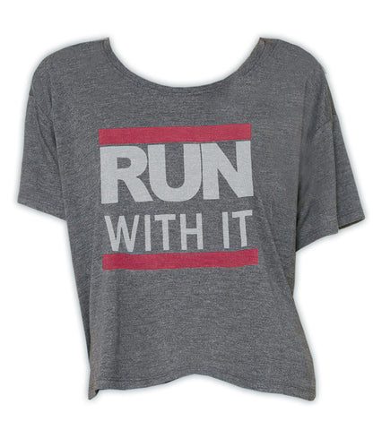 Run With It - Boxy Tee (Grey)