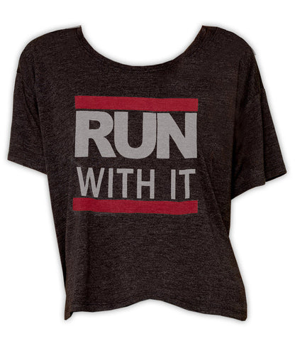 Run With It - Boxy Tee (Black)