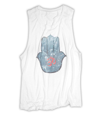 NYC Hamsa - Scoop Muscle (White)